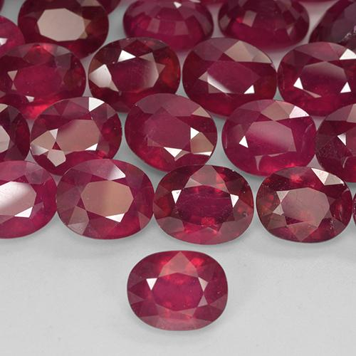 Medium-Dark Red Rubí Gema - 1.8ct Forma ovalada (ID: 524647)