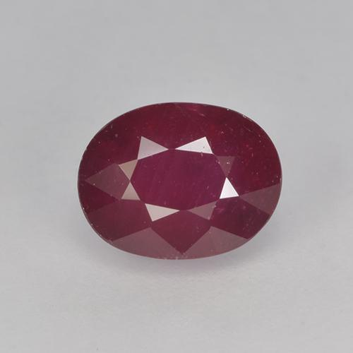 Pinkish Red Ruby Gem - 2.3ct Oval Facet (ID: 524815)