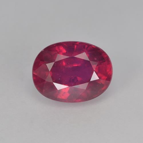 Jam Red Ruby Gem - 2ct Oval Facet (ID: 524818)