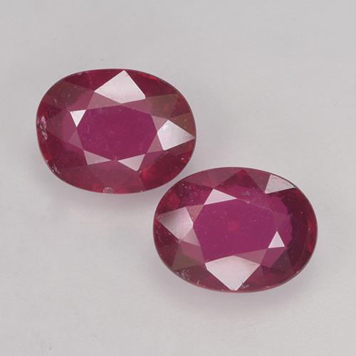 Pinkish Red Ruby Gem - 1.8ct Oval Facet (ID: 524889)