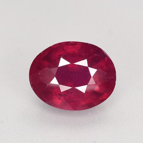 Medium-Dark Red Rubí Gema - 2.9ct Forma ovalada (ID: 526499)