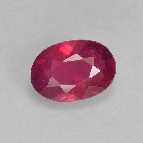 Medium-Dark Red Rubí Gema - 0.6ct Forma ovalada (ID: 527390)