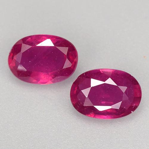 Light Red Ruby Gem - 0.6ct Oval Facet (ID: 528078)