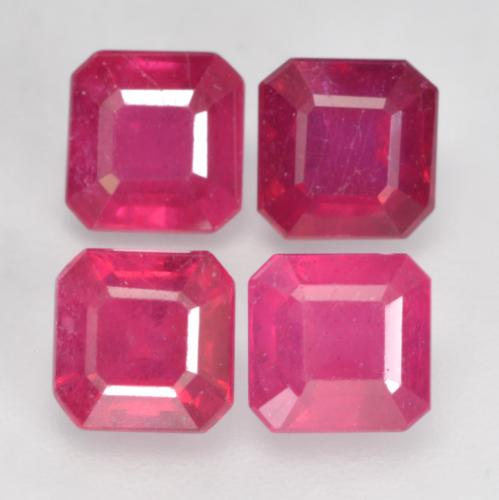 Light Red Rubin Edelstein - 1.3ct Oktagon facettiert (ID: 535903)