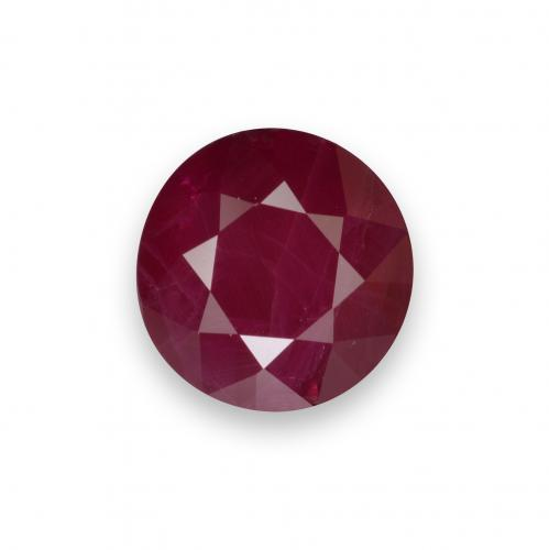 Wine Red Rubino Gem - 1ct Sfaccettatura rotonda (ID: 537718)