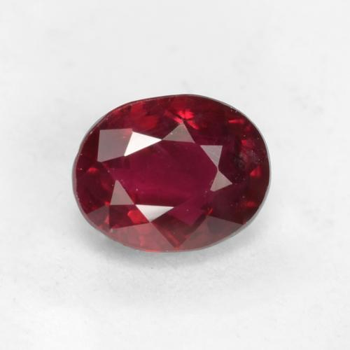 Medium Red Rubino Gem - 0.5ct Ovale sfaccettato (ID: 538799)
