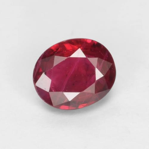 Blood Red Ruby Gem - 0.4ct Oval Facet (ID: 539027)