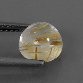 Buy 1.59 ct Colorless Golden Rutile Quartz 6.93 mm  from GemSelect (Product ID: 315795)