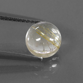 Buy 1.83 ct Colorless Golden Rutile Quartz 7.15 mm  from GemSelect (Product ID: 318175)