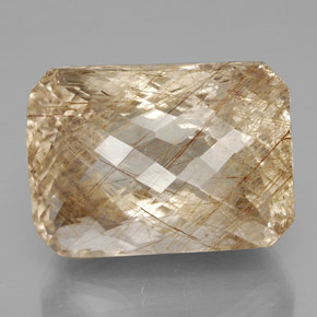 Buy 93.79 ct Colorless Golden Rutile Quartz 29.32 mm x 21.6 mm from GemSelect (Product ID: 329333)