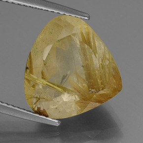 10.65 ct 梨形切面 Dijon Yellow 金发晶 宝石 13.88 mm x 14.7 mm (Product ID: 443232)