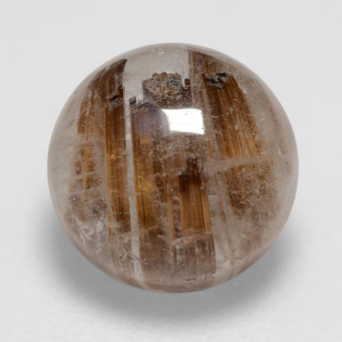 1.9ct Rund Cabochon Clear with Brown Rutilquarz Edelstein (ID: 544450)