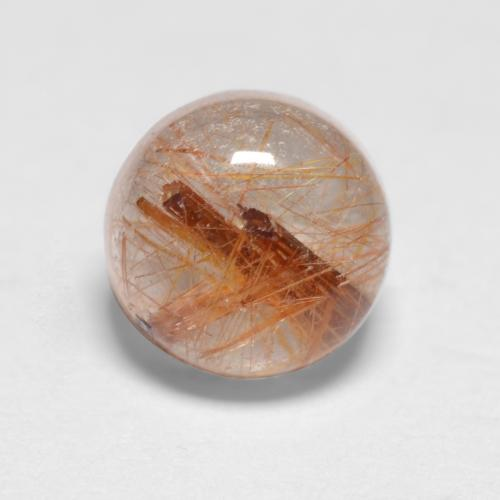 1.1ct Rund Cabochon Very Light Tawny Brown Rutilquarz Edelstein (ID: 546961)