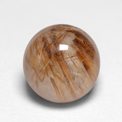 1.1ct Rund Cabochon Very Light Brown Rutilquarz Edelstein (ID: 546976)