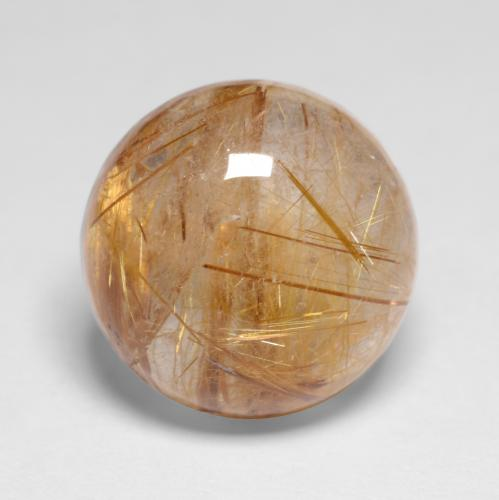 5.7ct Rund Cabochon Medium-Light Brown Rutilquarz Edelstein (ID: 547290)