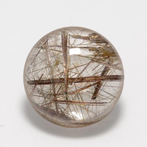 8.8ct Rund Cabochon Clear with Brown Rutilquarz Edelstein (ID: 547347)