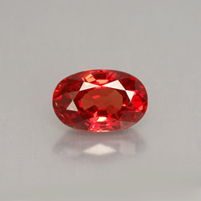 Buy 0.92 ct Reddish Orange Sapphire 6.92 mm x 4.6 mm from GemSelect (Product ID: 215366)