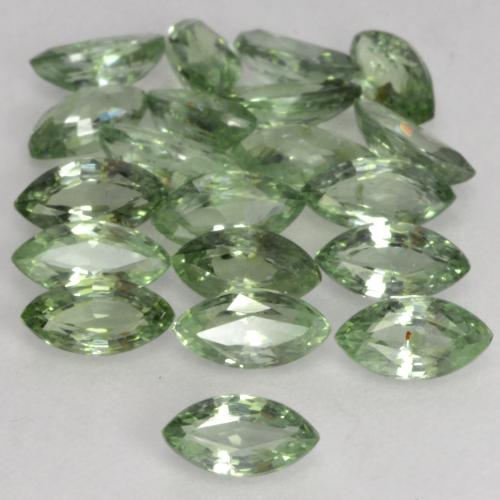 Green Sapphire Gem - 0.2ct Marquise Facet (ID: 244505)