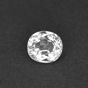 Buy 1.04 ct White Sapphire 6.07 mm x 5.5 mm from GemSelect (Product ID: 251417)