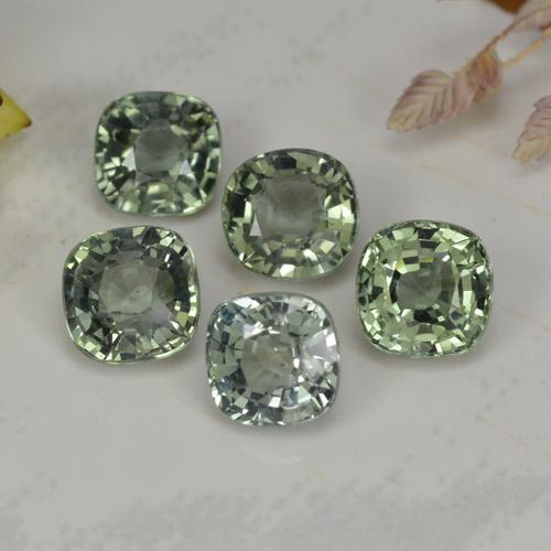 Green Sapphire Gem - 0.6ct Cushion-Cut (ID: 258810)