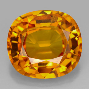 13 Carat Golden Orange Sapphire Gem From Thailand