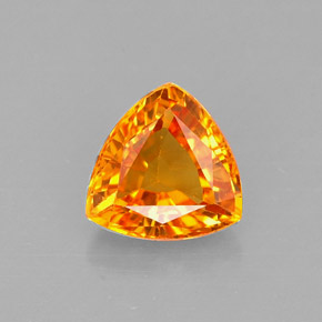 Buy 0.88 ct Yellow Orange Sapphire 5.98 mm x 5.9 mm from GemSelect (Product ID: 263951)