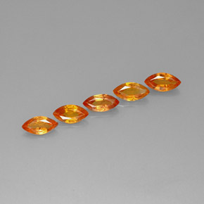 0.7ct Marquise Facet Yellow Golden Sapphire Gem (ID: 266734)