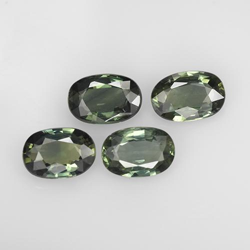Green Sapphire Gem - 0.6ct Oval Facet (ID: 267532)