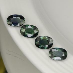 Forest Green Sapphire Gem - 0.6ct Oval Facet (ID: 267534)