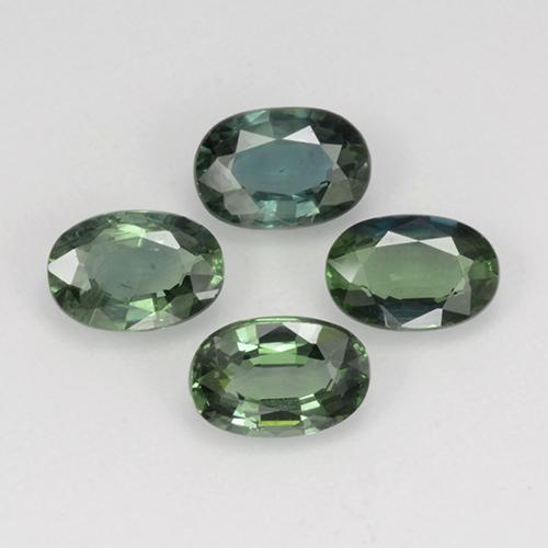 Green Sapphire Gem - 0.6ct Oval Facet (ID: 267536)