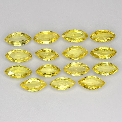 Yellow Golden Sapphire Gem - 0.3ct Marquise Facet (ID: 267818)