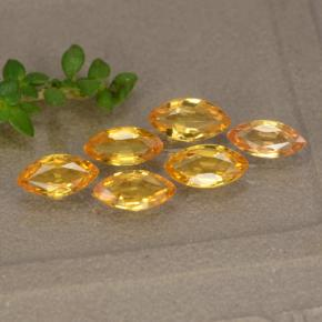 Yellow Golden Sapphire Gem - 0.3ct Marquise Facet (ID: 268029)
