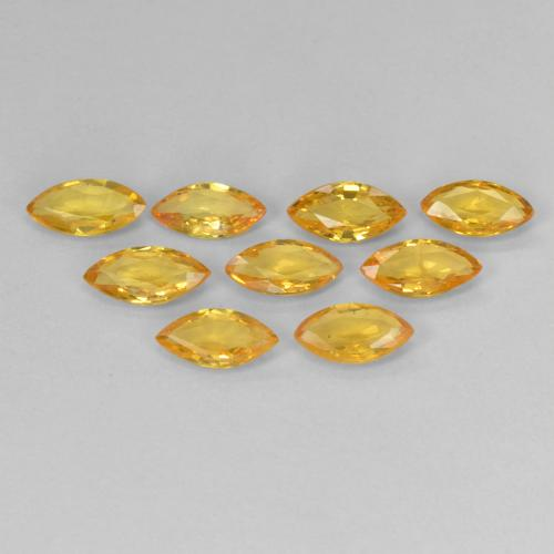 Yellow Golden Sapphire Gem - 0.3ct Marquise Facet (ID: 268030)
