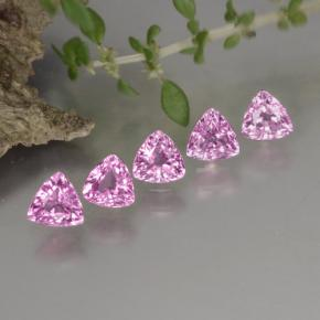 Pinkish Purple Sapphire Gem - 0.3ct Trillion Facet (ID: 271501)