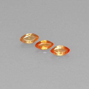 Yellow Golden Sapphire Gem - 0.4ct Marquise Facet (ID: 275996)