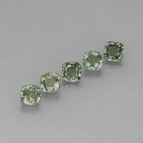Green Sapphire Gem - 0.7ct Cushion-Cut (ID: 283265)