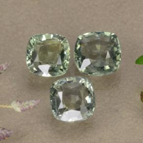 Light Green Sapphire Gem - 0.8ct Cushion-Cut (ID: 283359)