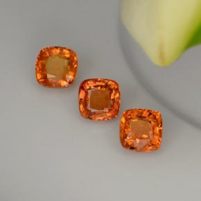 0.7ct Cushion-Cut Medium Orange Sapphire Gem (ID: 283364)