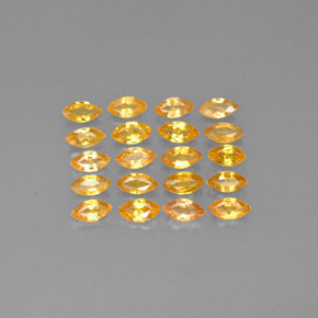 Yellow Golden Sapphire Gem - 0.2ct Marquise Facet (ID: 291597)