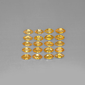Yellow Golden Sapphire Gem - 0.2ct Marquise Facet (ID: 292807)