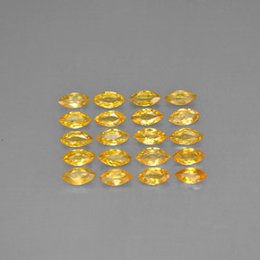Yellow Golden Sapphire Gem - 0.2ct Marquise Facet (ID: 292811)