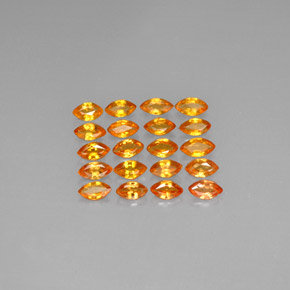 Yellow Orange Sapphire Gem - 0.2ct Marquise Facet (ID: 293190)