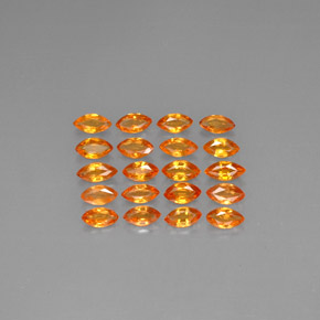 Yellow Orange Sapphire Gem - 0.2ct Marquise Facet (ID: 293194)