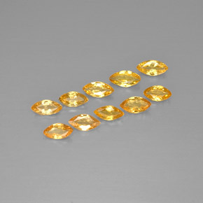 Yellow Golden Sapphire Gem - 0.2ct Marquise Facet (ID: 297086)