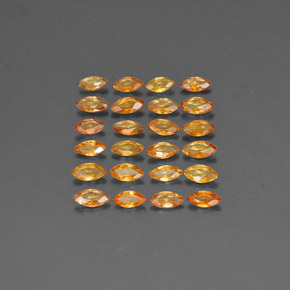Buy 1.85 ct Yellow Orange Sapphire 3.61 mm x 1.9 mm from GemSelect (Product ID: 303387)