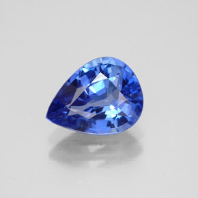 2.11 ct Pear Facet Blue Sapphire Gemstone 9.21 mm x 7.1 mm (Product ID: 304593)