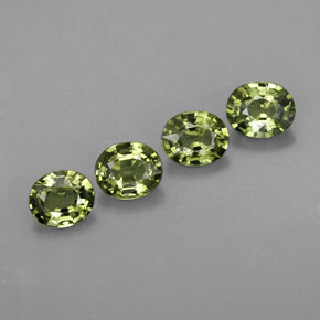 Green Sapphire Gem - 0.4ct Oval Facet (ID: 309492)