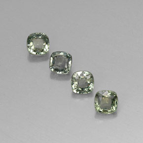 Greenish Gray Sapphire Gem - 0.5ct Cushion-Cut (ID: 310861)