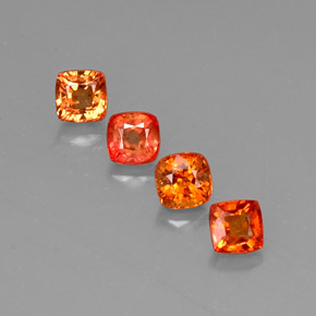 0.6ct Cushion-Cut Bright Orange Sapphire Gem (ID: 310866)