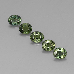 Green Sapphire Gem - 0.5ct Oval Facet (ID: 313602)